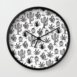 Cactus Sketch Wall Clock