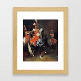 Théodore Géricault Mounted Trumpeters of Napoleon's Imperial Guard Framed Art Print