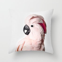 Pink Cockatoo Throw Pillow