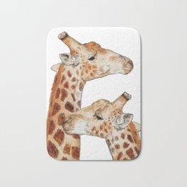 Conspiring Giraffes Bath Mat