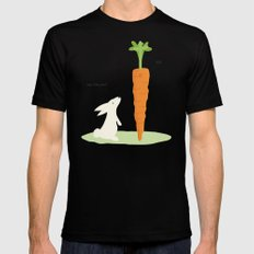 Funny bunny Mens Fitted Tee Black MEDIUM