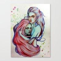 gemini Canvas Prints featuring Gemini by Olga Noes