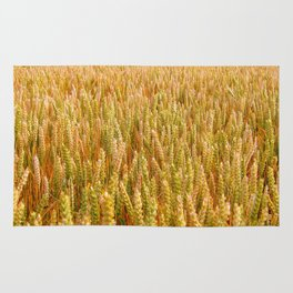 Golden Wheat Field Rug