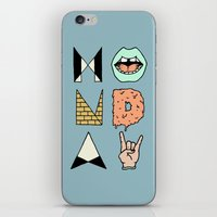 garfield iPhone & iPod Skins featuring MONDAY by Wesley Bird