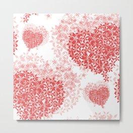 Heart Pattern 02 Metal Print
