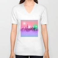 chicago bulls V-neck T-shirts featuring chicago by Bekim ART