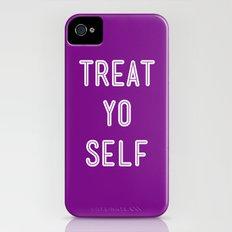 Treat Yo Self Purple - Parks and Recreation iPhone (4, 4s) Slim Case