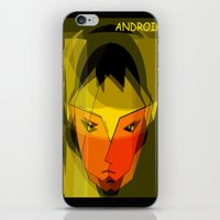 android iPhone & iPod Skins featuring ANDROID. by capricorn