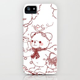 The Adventures of Bear and Baby Bear-Picking Berries iPhone Case
