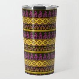 Thai Fabric Patterns - Thai Airways Colour Palette Travel Mug