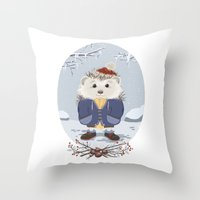 leon Throw Pillows featuring Leon by Laure Lilyvale