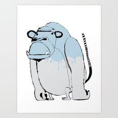 Paint Kong  Art Print