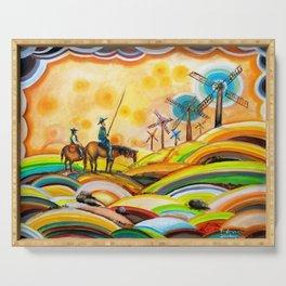 Don Quixote de La Mancha and Sancho Panza Serving Tray