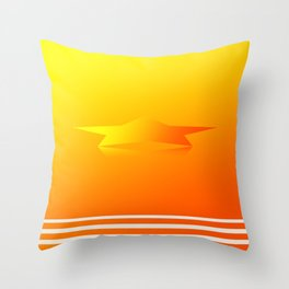 Star Flight Space Carrier - Red Orange Yellow Throw Pillow