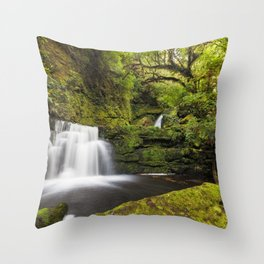 Waterfall magic in the Rainforest Throw Pillow