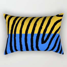 blue/yellow/black Rectangular Pillow