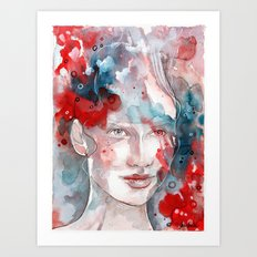 Changes, mixed media artwork Art Print