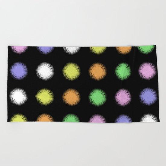 Rainbow Fuzz Beach Towel