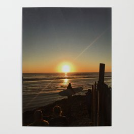 Surfer mornings Poster