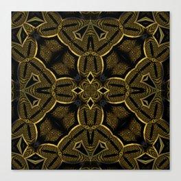Gold Knight Medieval Geometric Pattern Canvas Print