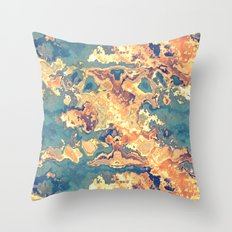 Digital Rust Abstract Throw Pillow