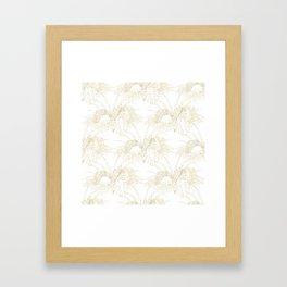 Elegant tropical leaves golden strokes design Framed Art Print