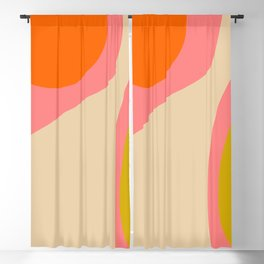abstract composition modern blush pink Blackout Curtain