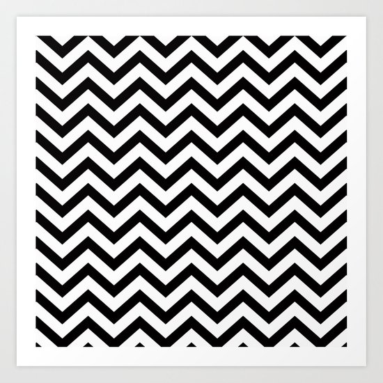 Simple Chevron Pattern - Black & White - Mix & Match with Simplicity by simplicity_of_live