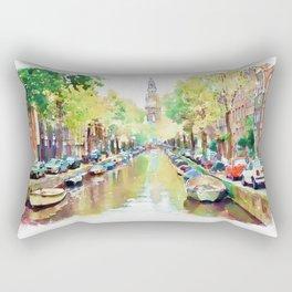 Amsterdam Canal 2 Rectangular Pillow