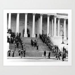 President Kennedy's Casket - Capitol Building - 1963 Art Print