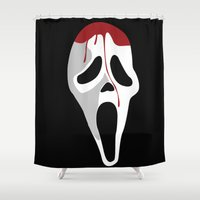 scream Shower Curtains featuring SCREAM. by Dominic Tyler
