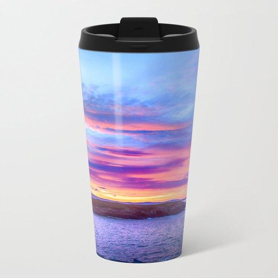 Biscay Bay sunset Metal Travel Mug
