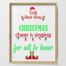 Christmas Elf Spread XMAS Cheer Funny product Serving Tray