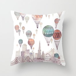 Voyages Over San Francisco ~ Refresh Throw Pillow