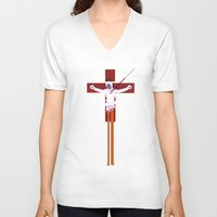 evangelion V-neck T-shirts featuring Lilith (Neon Genesis Evangelion) by CatOverlord