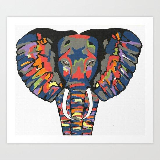 Flashy Elephant Art Print