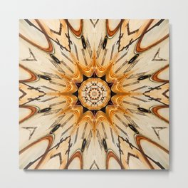 Multiple traditional antique clock face center and pattern rays shown in conceptual  abstract shapes Metal Print