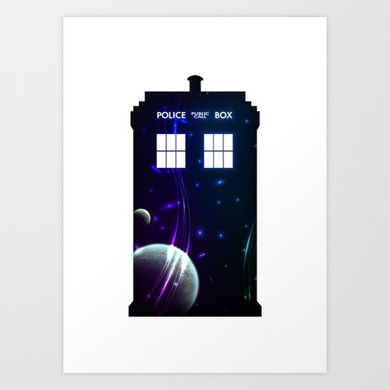 Space in TARDIS Art Print