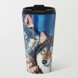 A pair of wolves Travel Mug