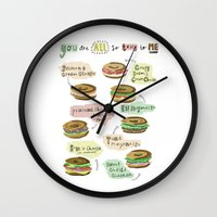 biology Wall Clocks featuring Bagel Biology by Faye Finney