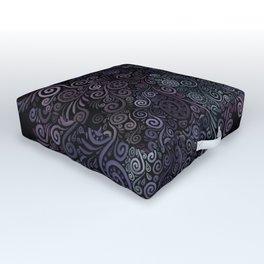 3D Psychedelic Powder Pastel NeuRose Outdoor Floor Cushion