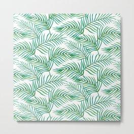 Palm Leaves_Bg White Metal Print