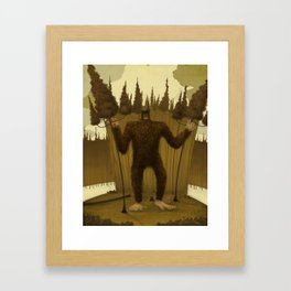 Big Foot Framed Art Print