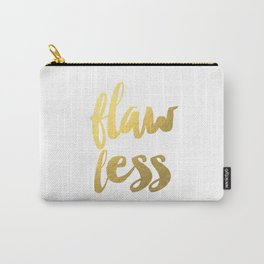 I woke up like this Flaw Less PRINTABLE bedroom bathroom printable bathroom printable women gift fun Carry-All Pouch