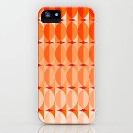 Leaves at sunset - a pattern in orange and red iPhone Case
