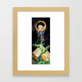 Moon fairy and the space scientists Framed Art Print