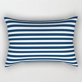 Navy-White ( Stripe Collection ) Rectangular Pillow