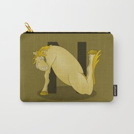 Pony Monogram Letter N Carry-All Pouch