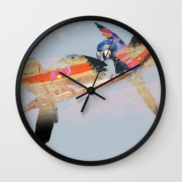 Tropical Birds Wall Clock