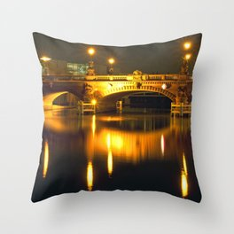Moltke-Bridge at the river Spree in Berlin Throw Pillow